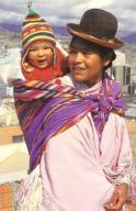 Cholita met baby in Bolivia