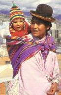 Cholita met baby in Bolivia
