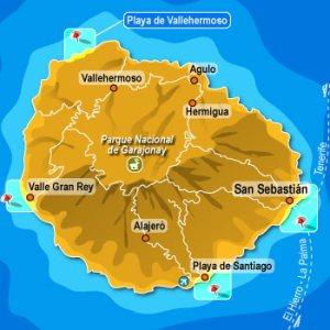 La Gomera, plattegrond