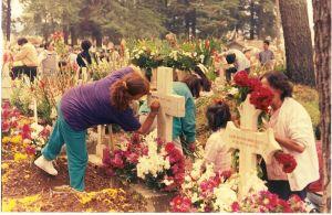 Graven versieren op dia de los muertos