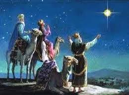 Reyes Magos siguen la Estrella de Belén Driekoningen volgen de ster