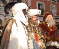 Los Reyes Magos Gaspar, Melchor y Baltasar. De Drie Wijze Koningen.