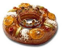 Roscón de Reyes. Driekoningenkrans.