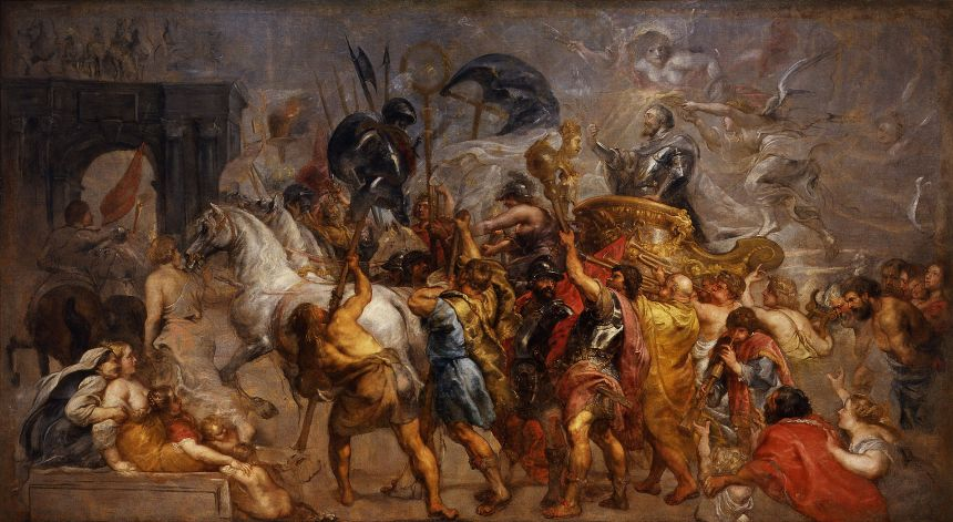 Entrada triunfal de Enrique IV a París Rubens