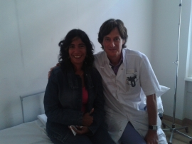 Leonor met chirurg Dr. Zijlmans